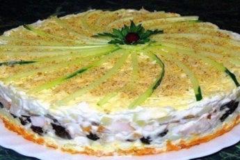 Салат-торт №1 в мире. Гости придут в настоящий восторг