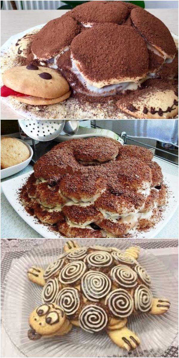 Потрясающий торт «Черепаха». Гости оценят его по достоинству