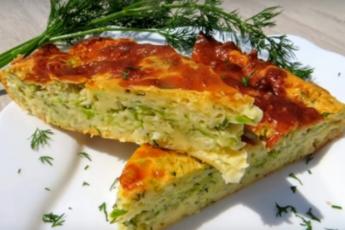Простой, ароматный, сытный заливной пирог с капустой и кабачком