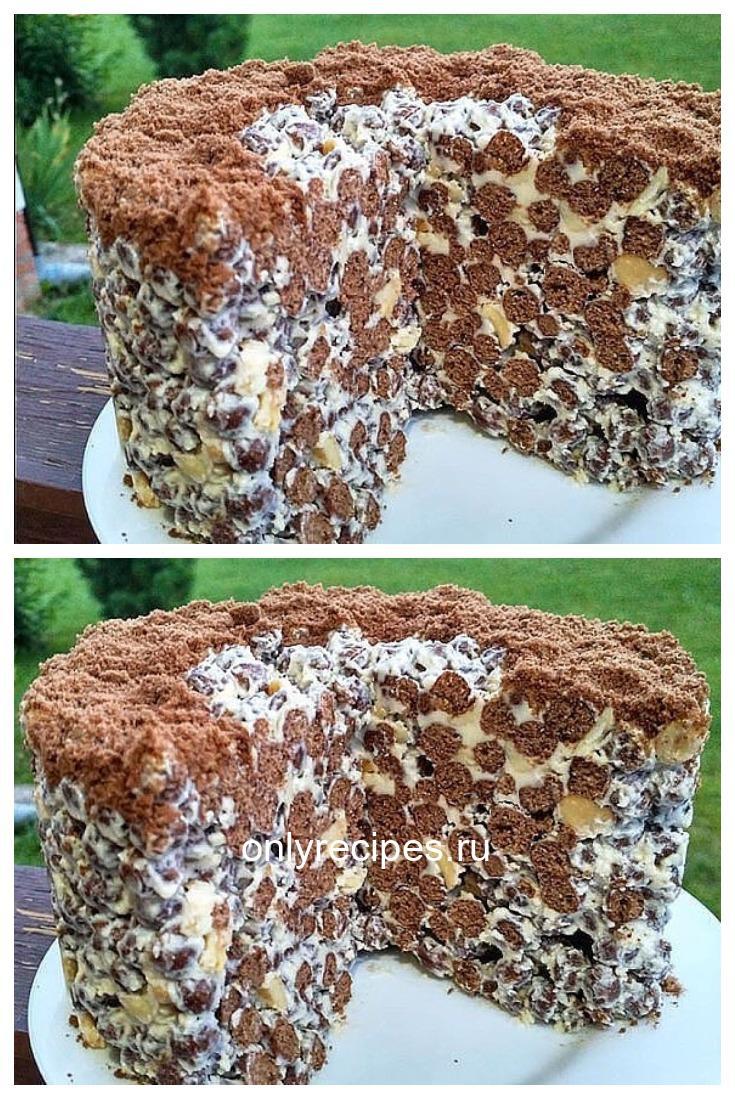 Невероятно хрустящий торт готовится без выпечки за считанные минуты.